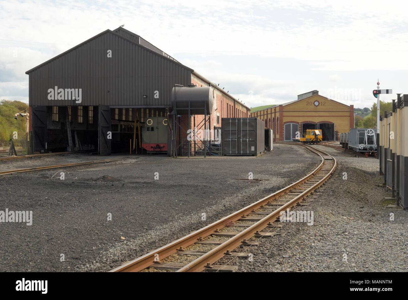Approach to Aberystwyth Station, Vale of Rheidol Railway - Stock Image