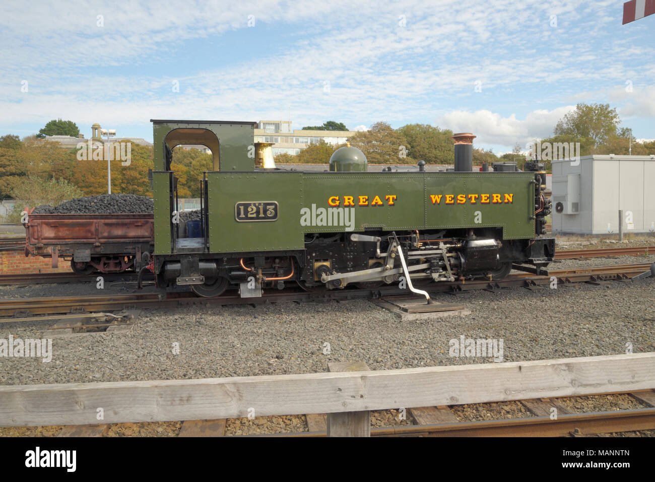 Locomotive: Great Western at Aberystwyth Station - Stock Image