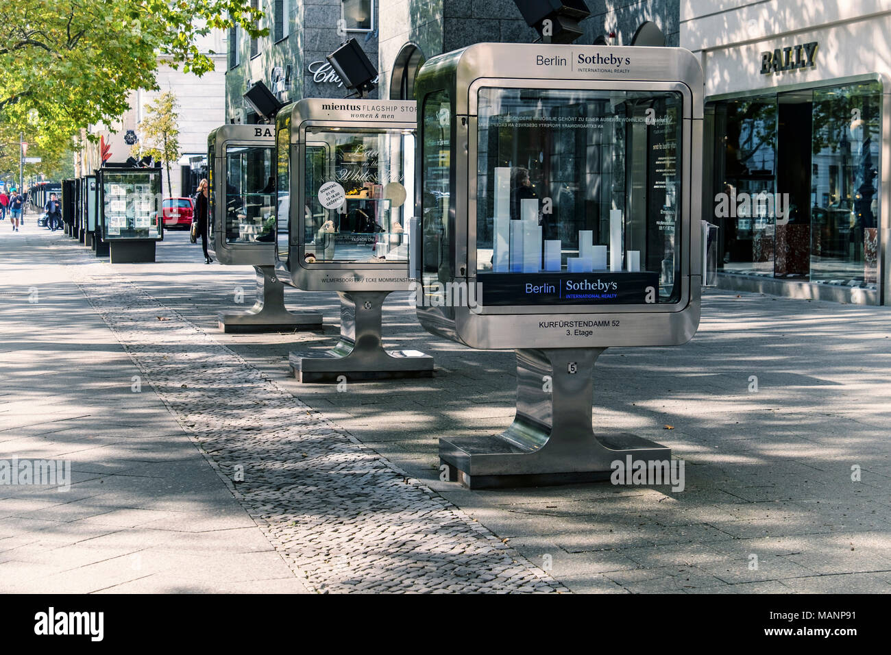 1aabb848ec1b52 Berlin Charlottenburg.Kurfürstendamm shopping street.Bally clothing store  display window   display case.