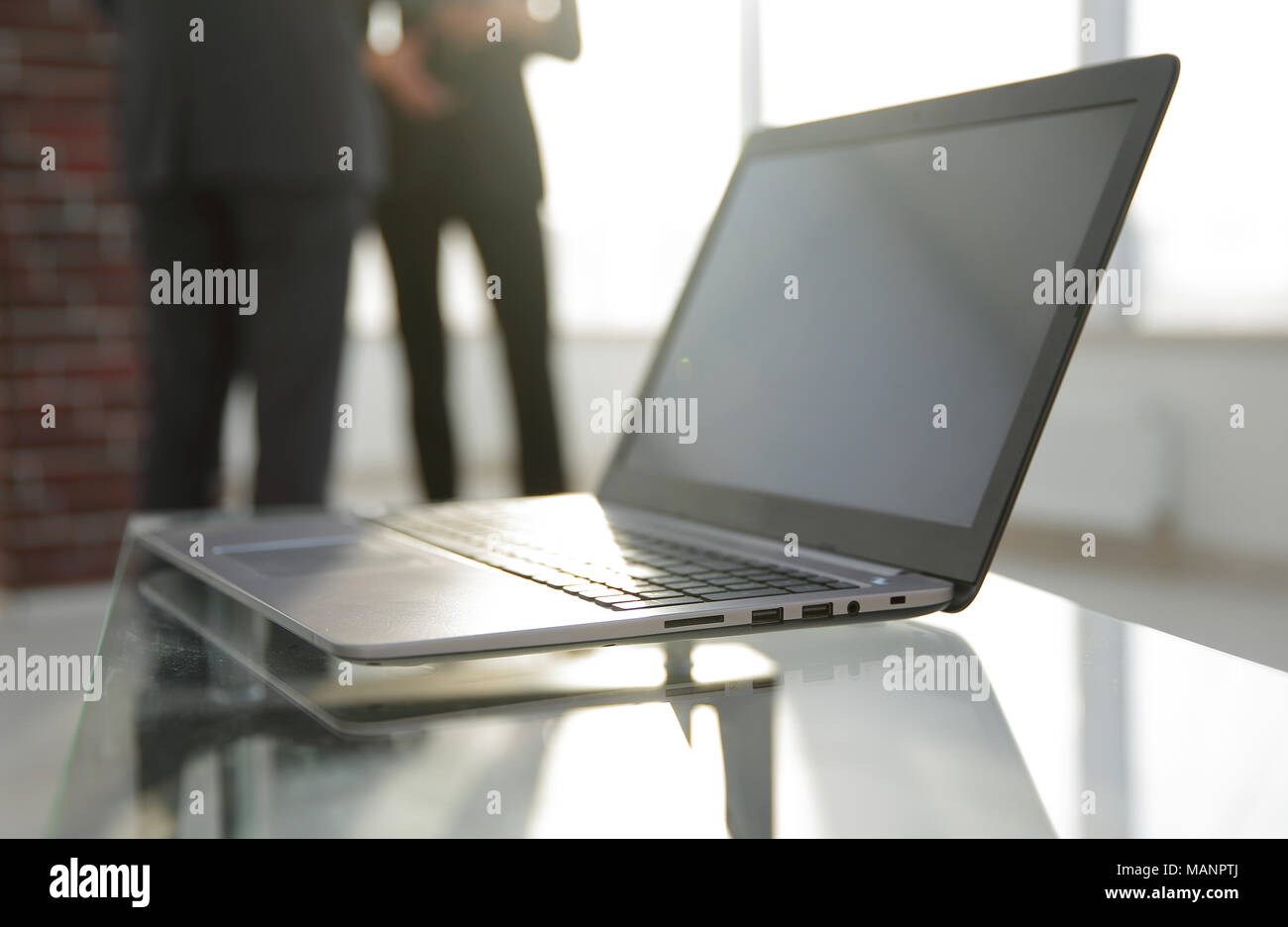 Workspace Table Works In The Office With A Computer