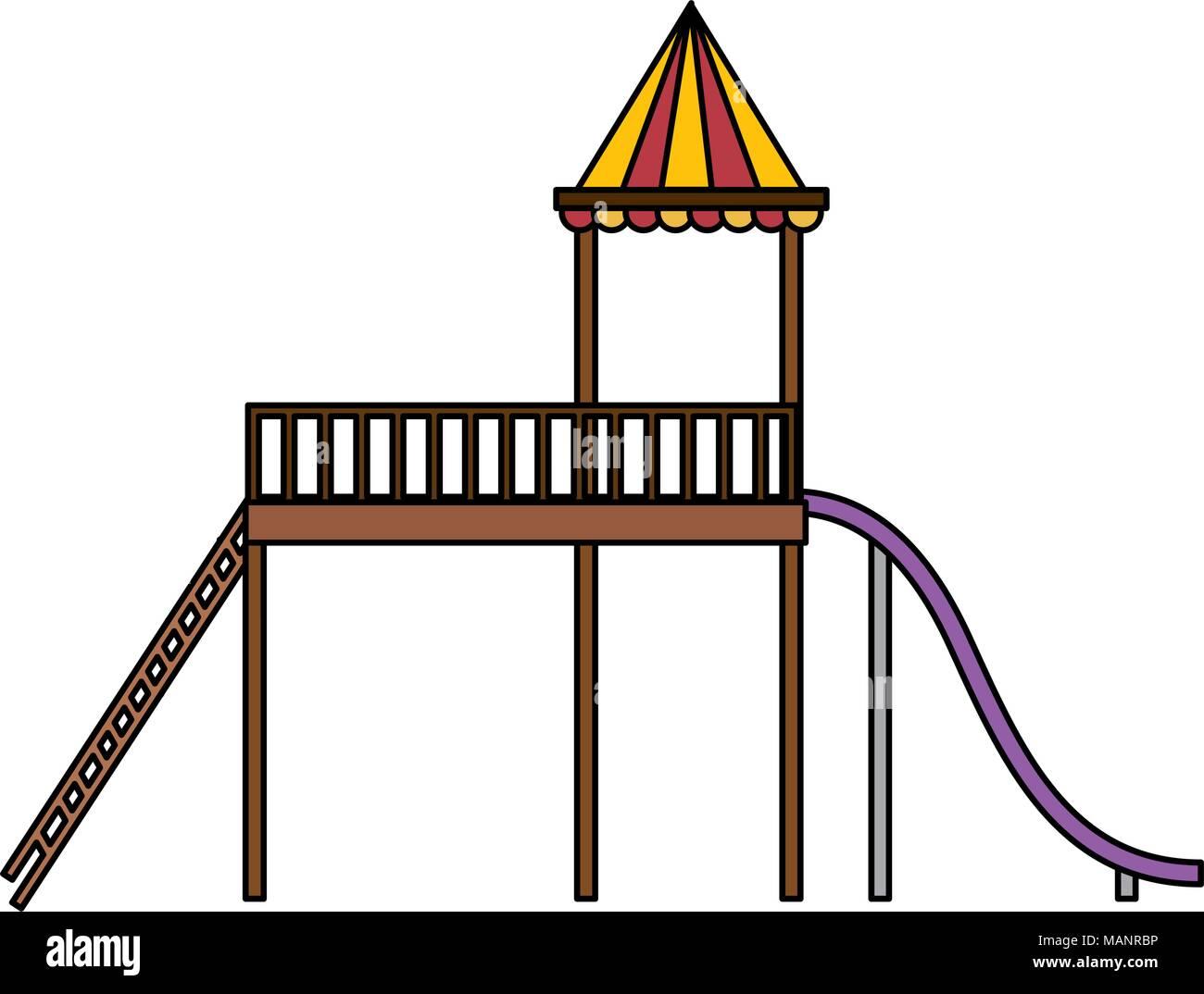 slide playground game for children - Stock Vector