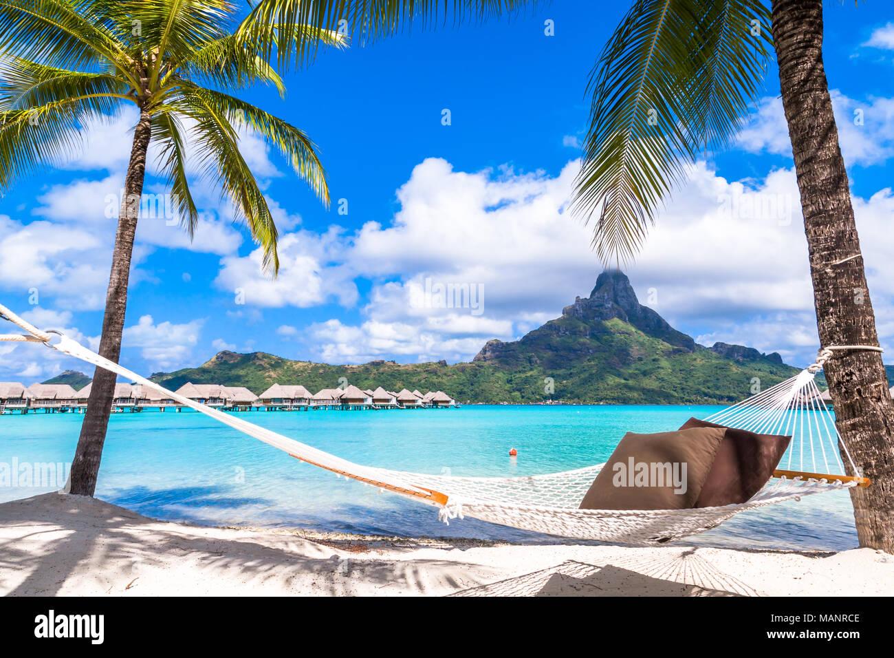 Bora Bora Island, French Polynesia. - Stock Image