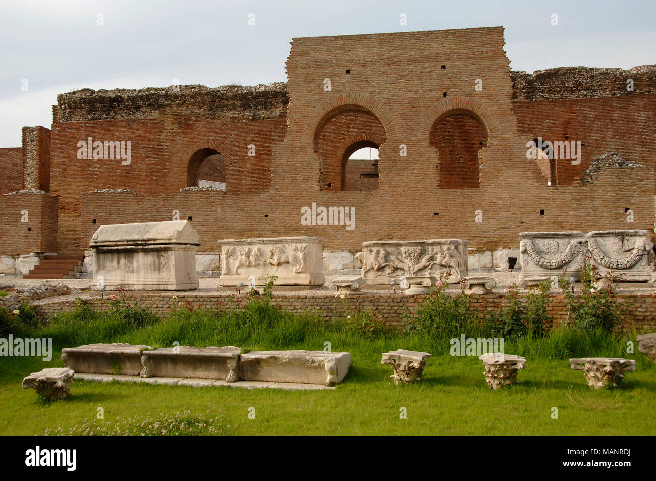 Patras, Greece. Roman Odeon, 2nd century BC. Peloponnese. - Stock Image