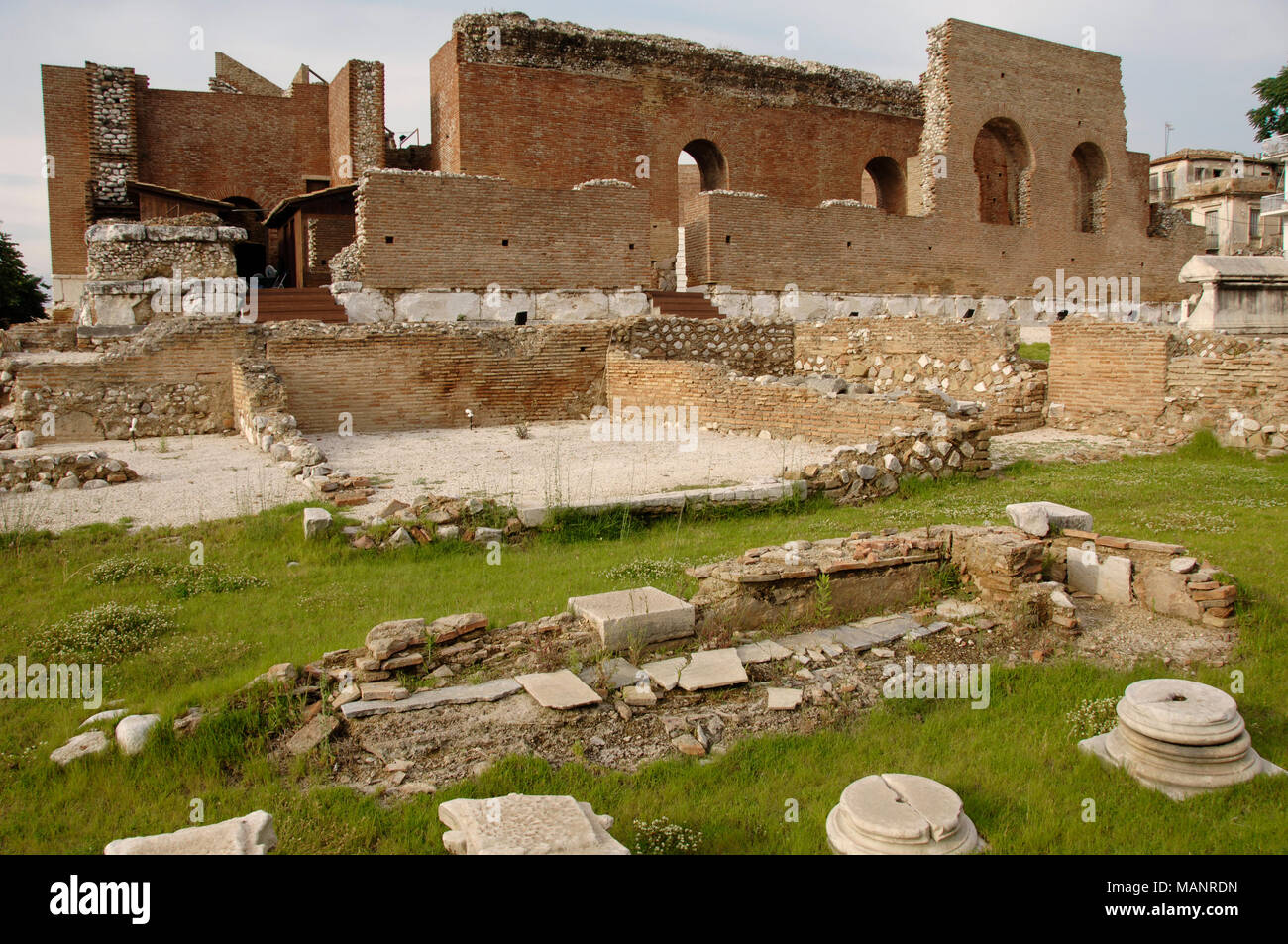 Patras, Greece. View of the Roman Odeon. 2nd century BC. Peloponnese. - Stock Image