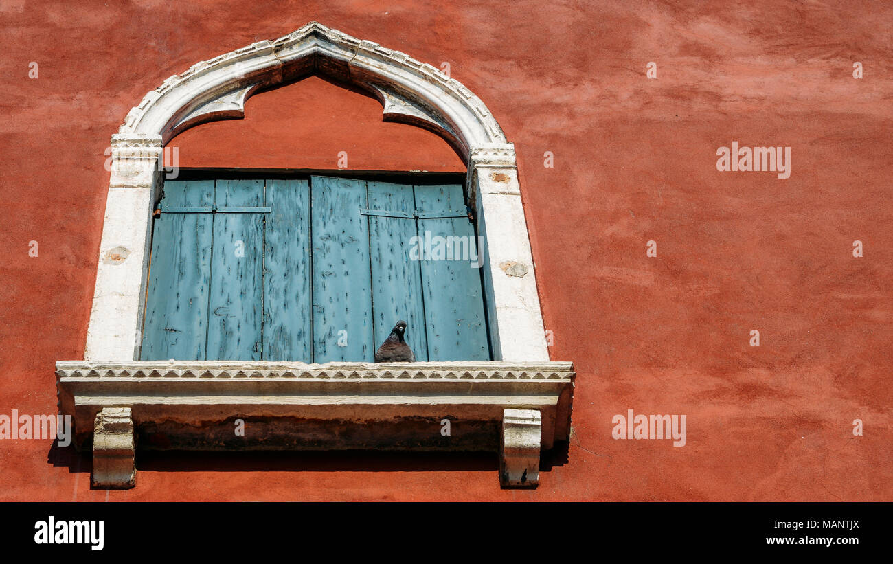 Shadows And Light In Venice Stock Photos Venezia Antique Bronze Wire Wall Looking Up At An Old Stucco Window Frame Bathed With White Frames