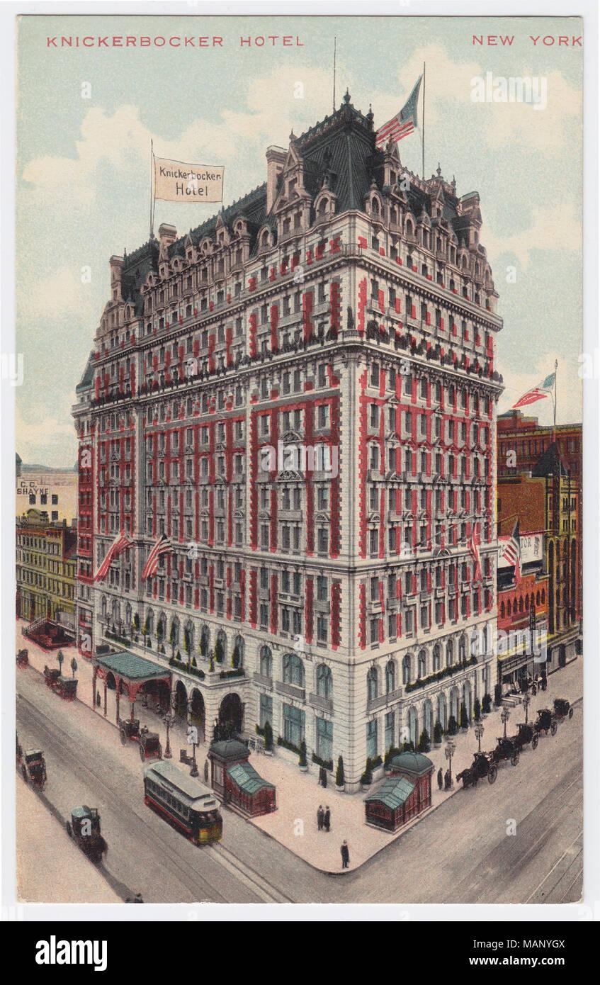 Knickerbocker Hotel, New York, United States, ca. 1910 Stock Photo