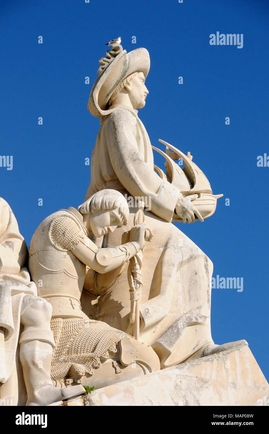 The Monument to the Discoveries (Padrão dos Descobrimentos). Lisbon, Portugal - Stock Image