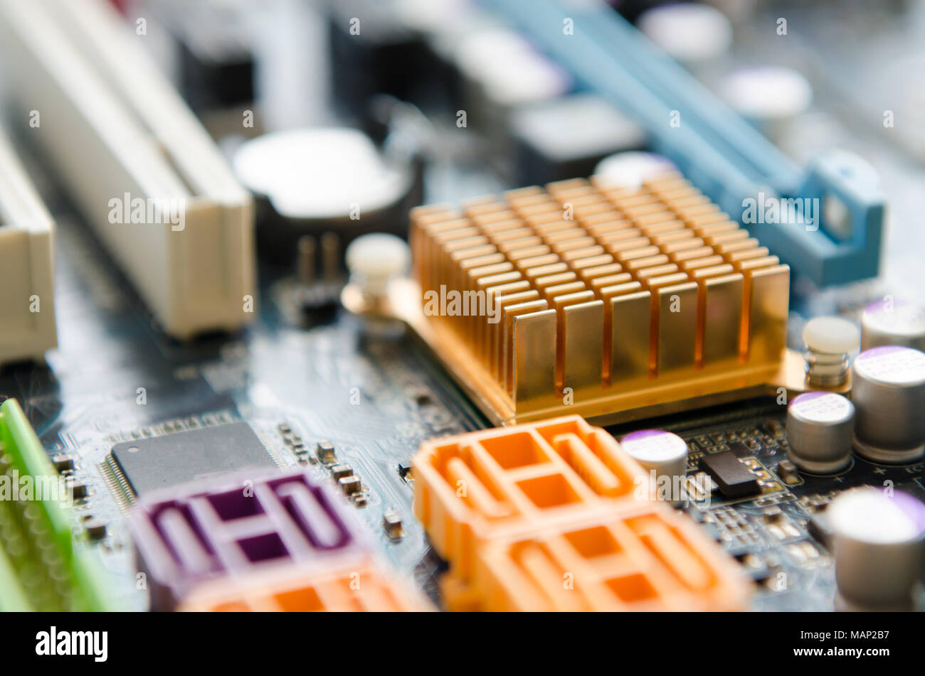 Tech Background Motherboard Industrial Stock Photos Is The Central Printed Circuit Board Pcb In Many Modern Computers Creative Abstract Electronic Industry Business Technology Concept Macro View Of Group Computer Pc