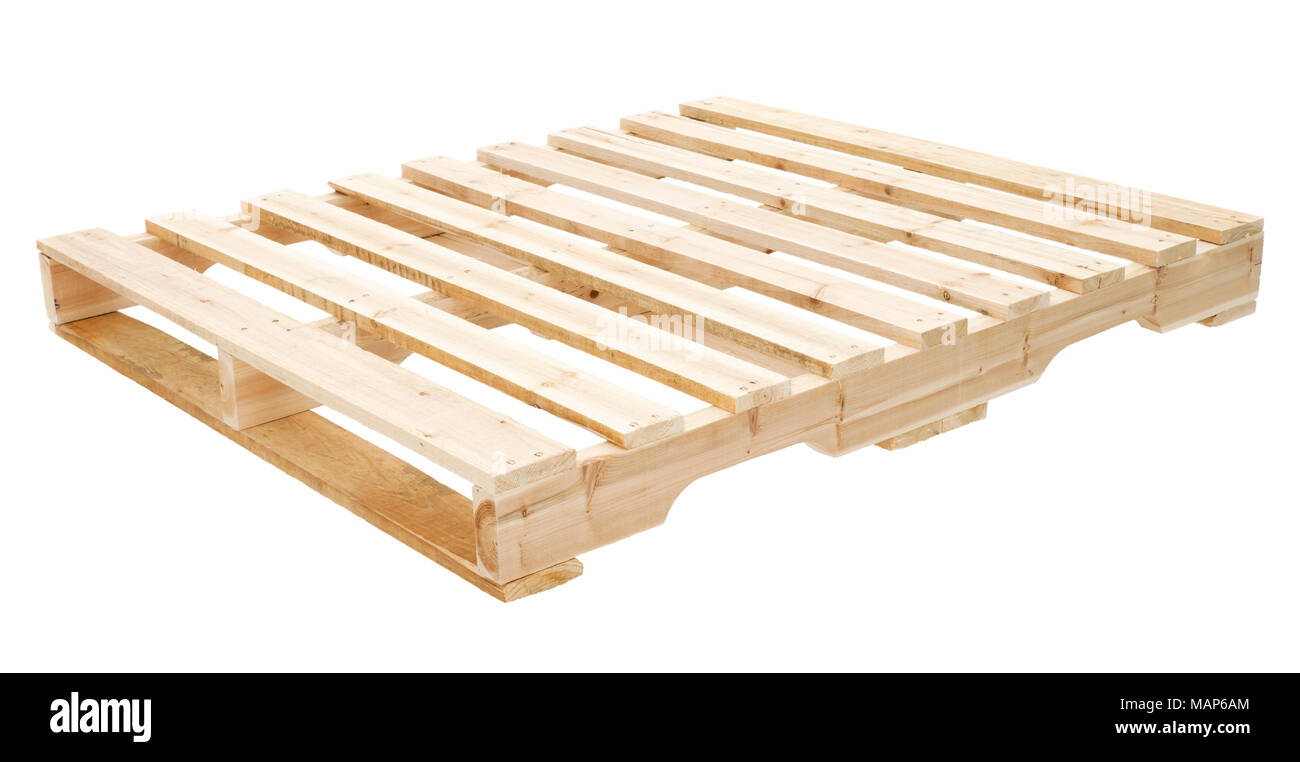 New wooden platforms  for the transportation of construction materials - Stock Image