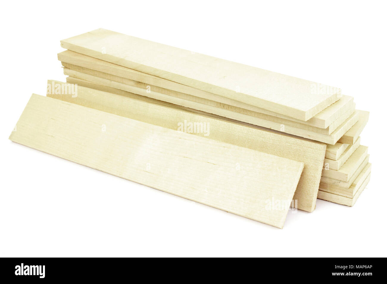 Planks for the manufacture of wooden containers - Stock Image