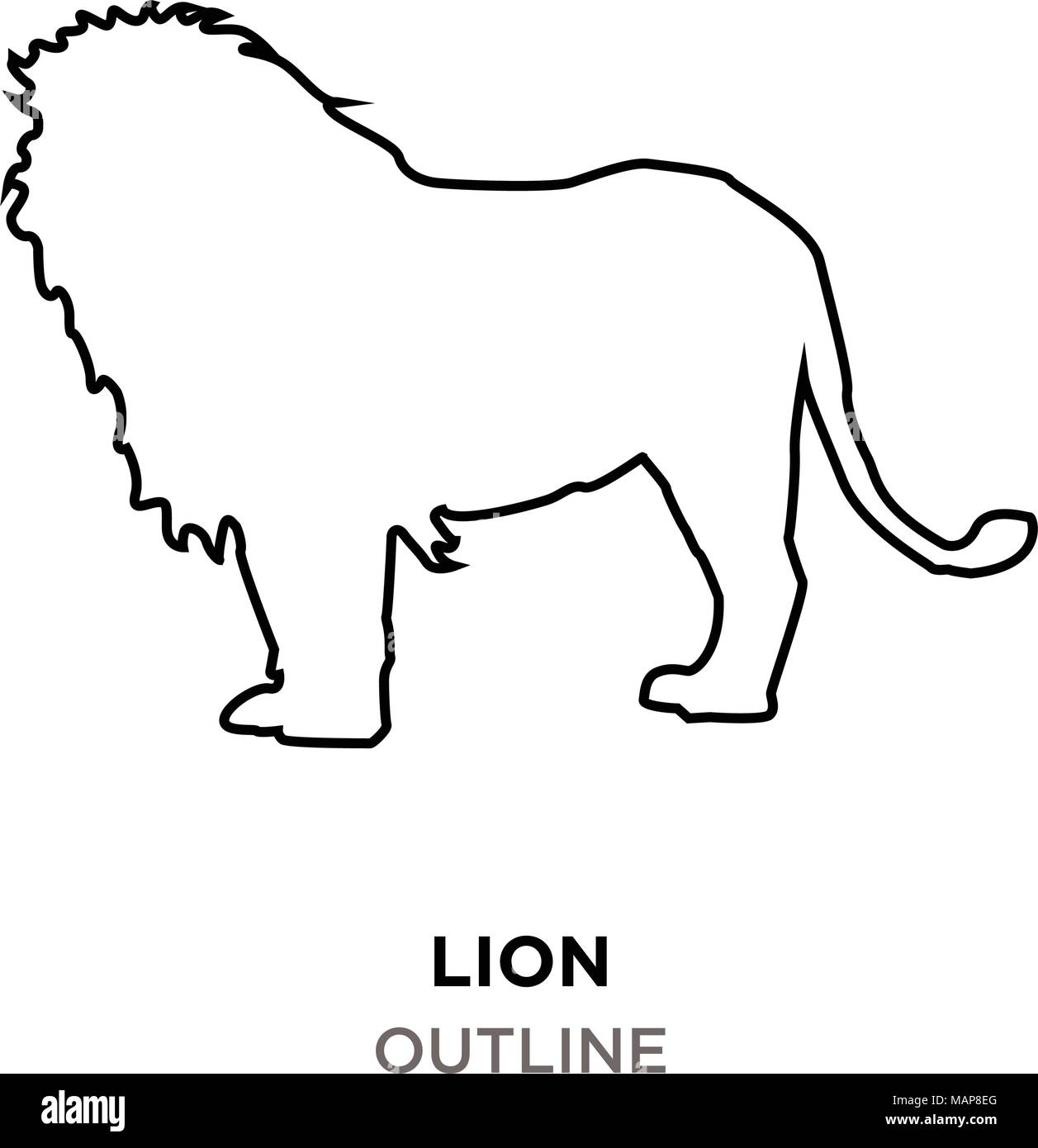 Lion Outline Images On White Background Stock Vector Image Art Alamy Cut out the shape and use it for coloring, crafts, stencils, and more. https www alamy com lion outline images on white background image178739864 html