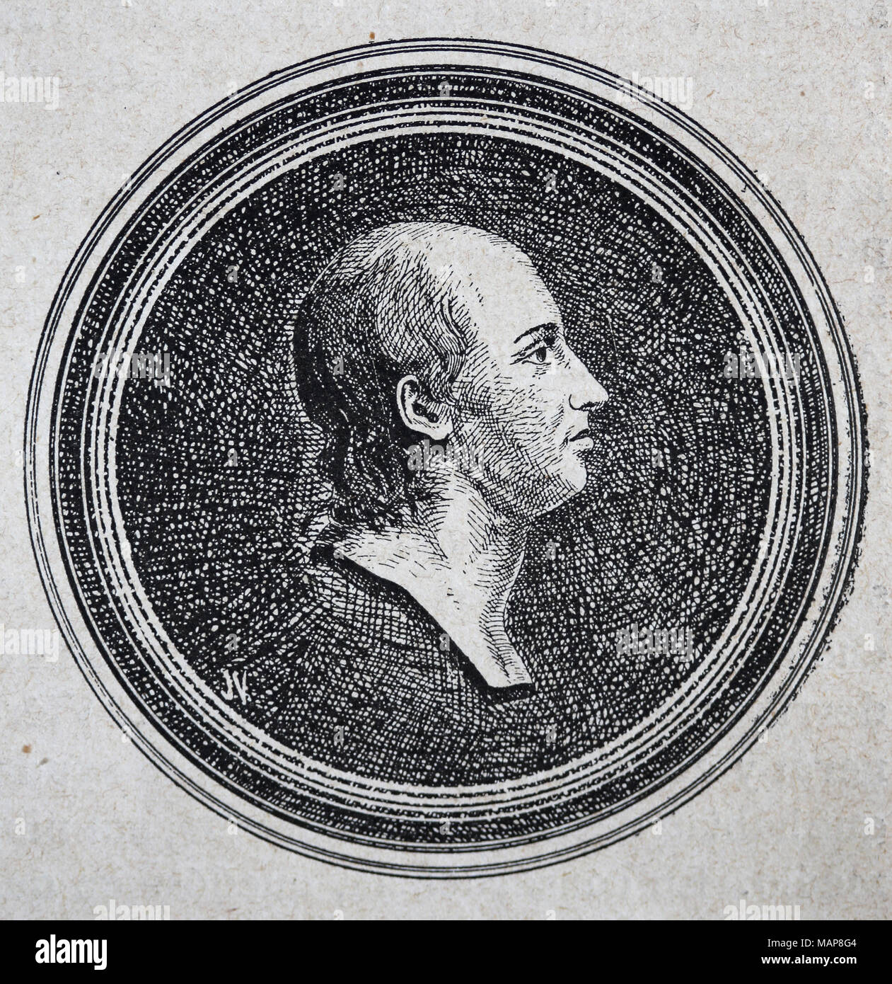 Emmanuel Joseph Sieyes (1748-1836) or Abbe Sieyes. French clergyman and political writer. Engraving, 19th cent. - Stock Image