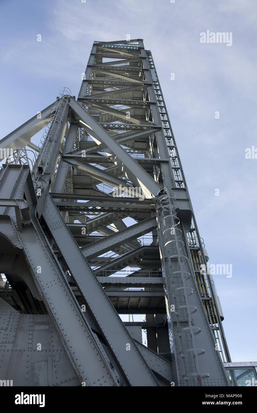 Lift bridge of La Seyne sur Mer - Stock Image