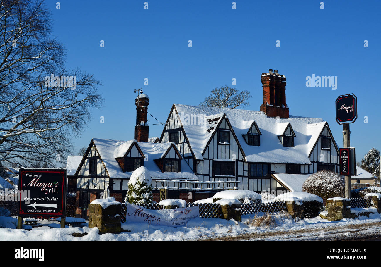 Southborough in Snow - Stock Image