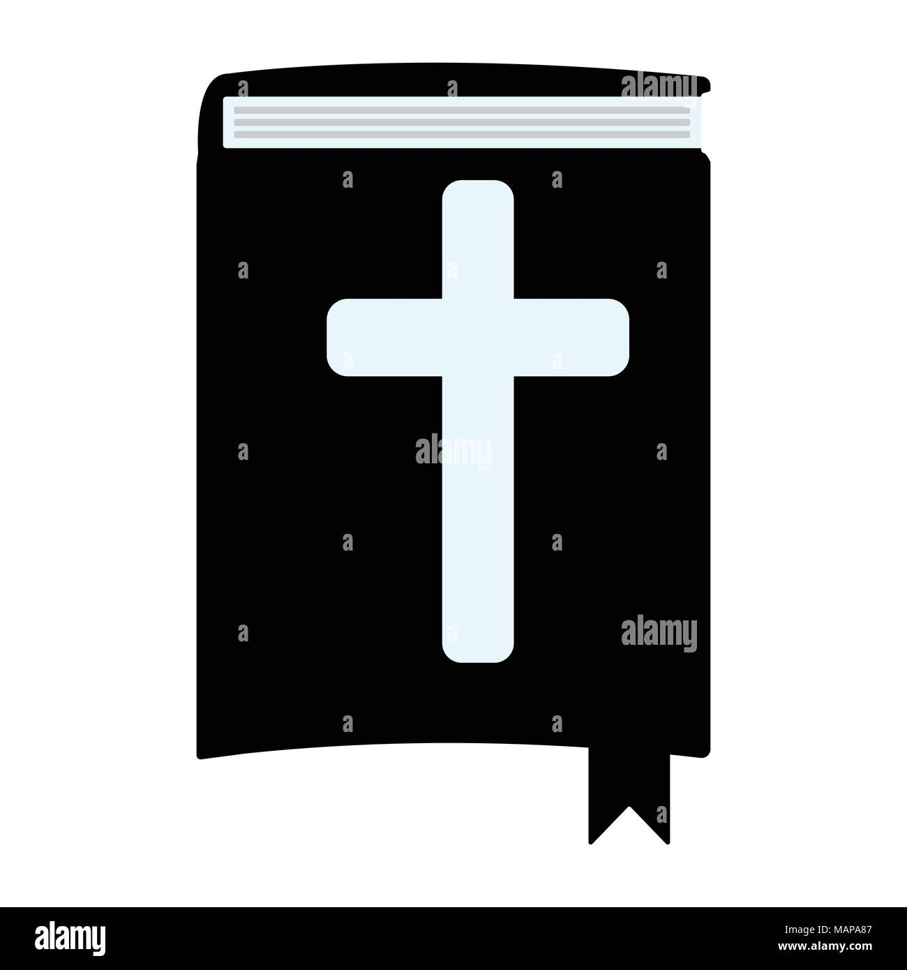 Holy Bible simple icon. Isolated vector illustration. - Stock Vector