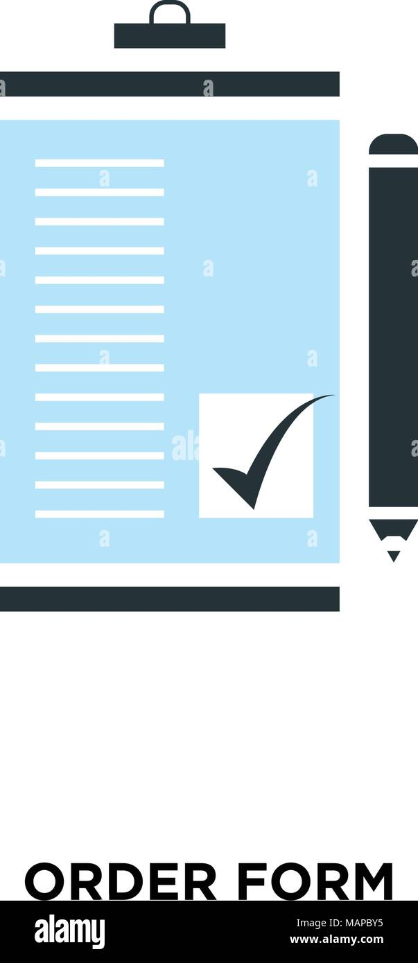 order form background design  order form icon isolated on white background for your web ...