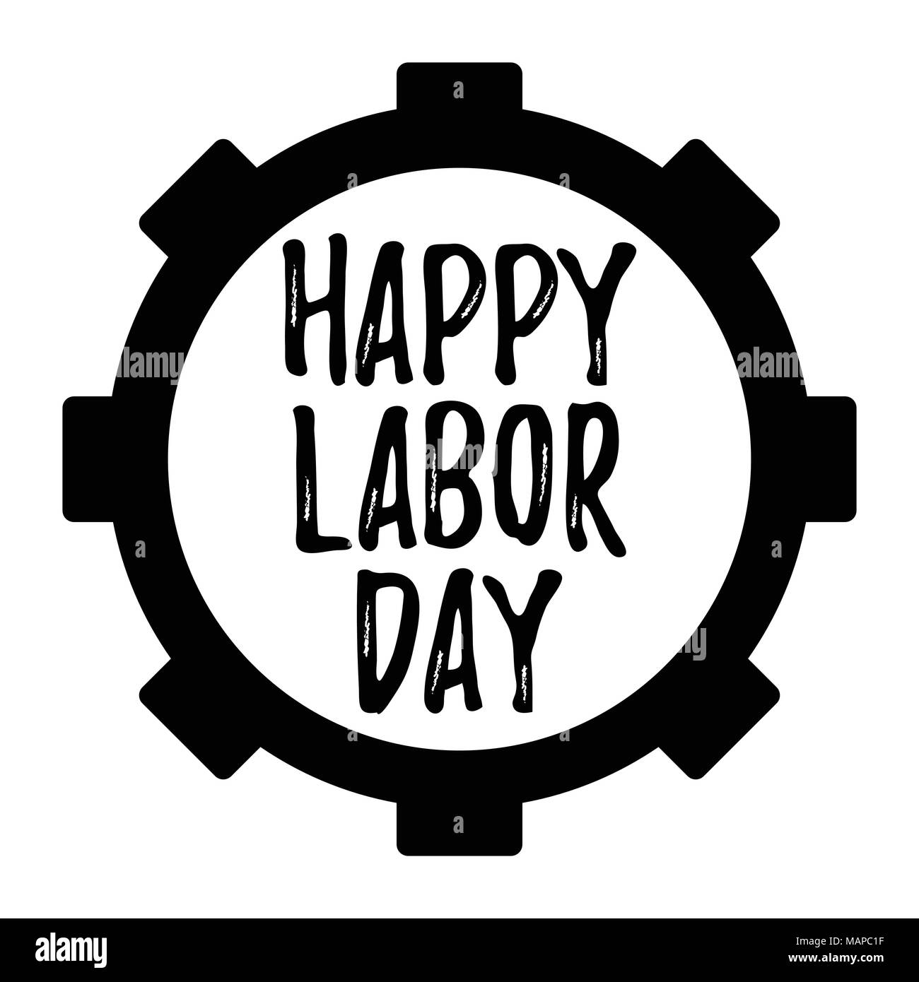 Happy Labor Day Banner And Giftcard Labor Day Poster Sign On White Background Vector Illustration Stock Vector Image Art Alamy