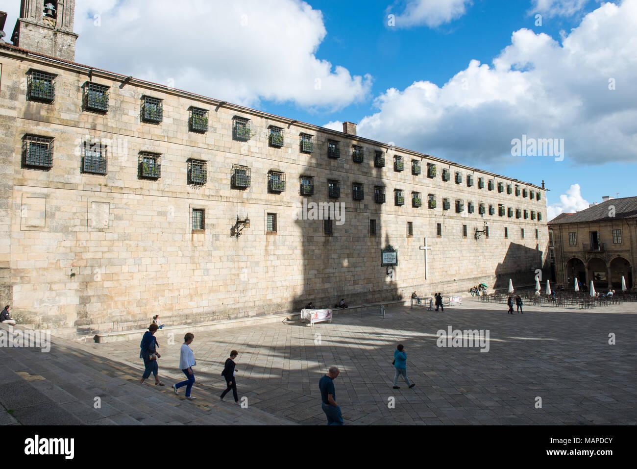 Praza da Quintana, Santiago de Compostela in Coruña, Spain - Stock Image