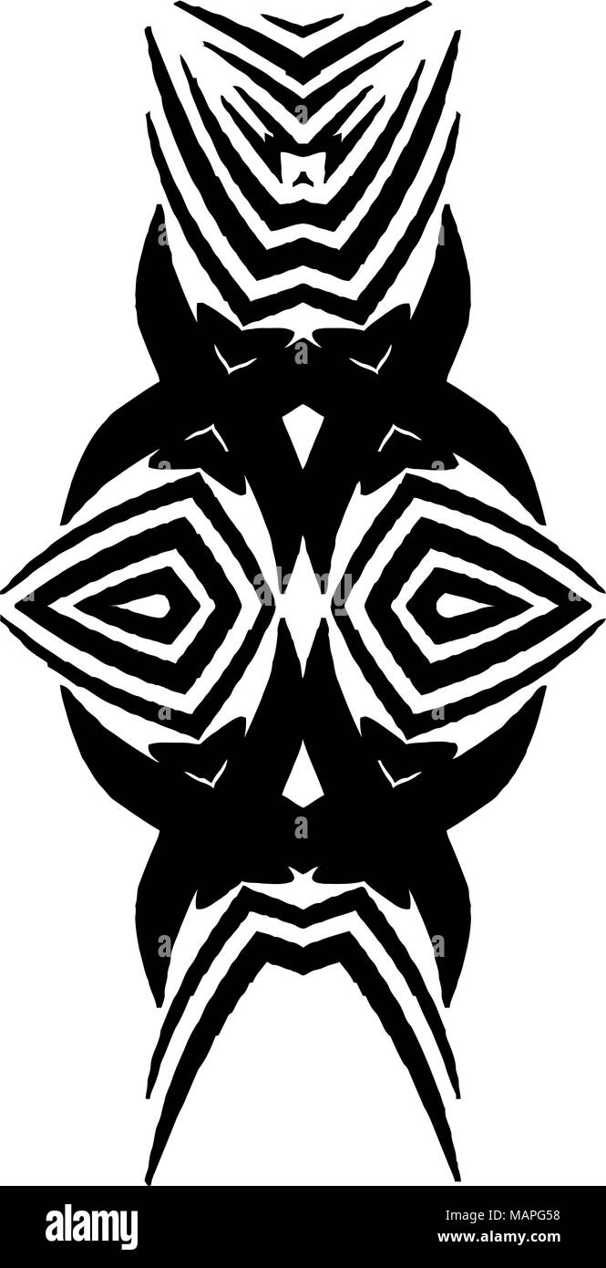 Black and white african design art stock image