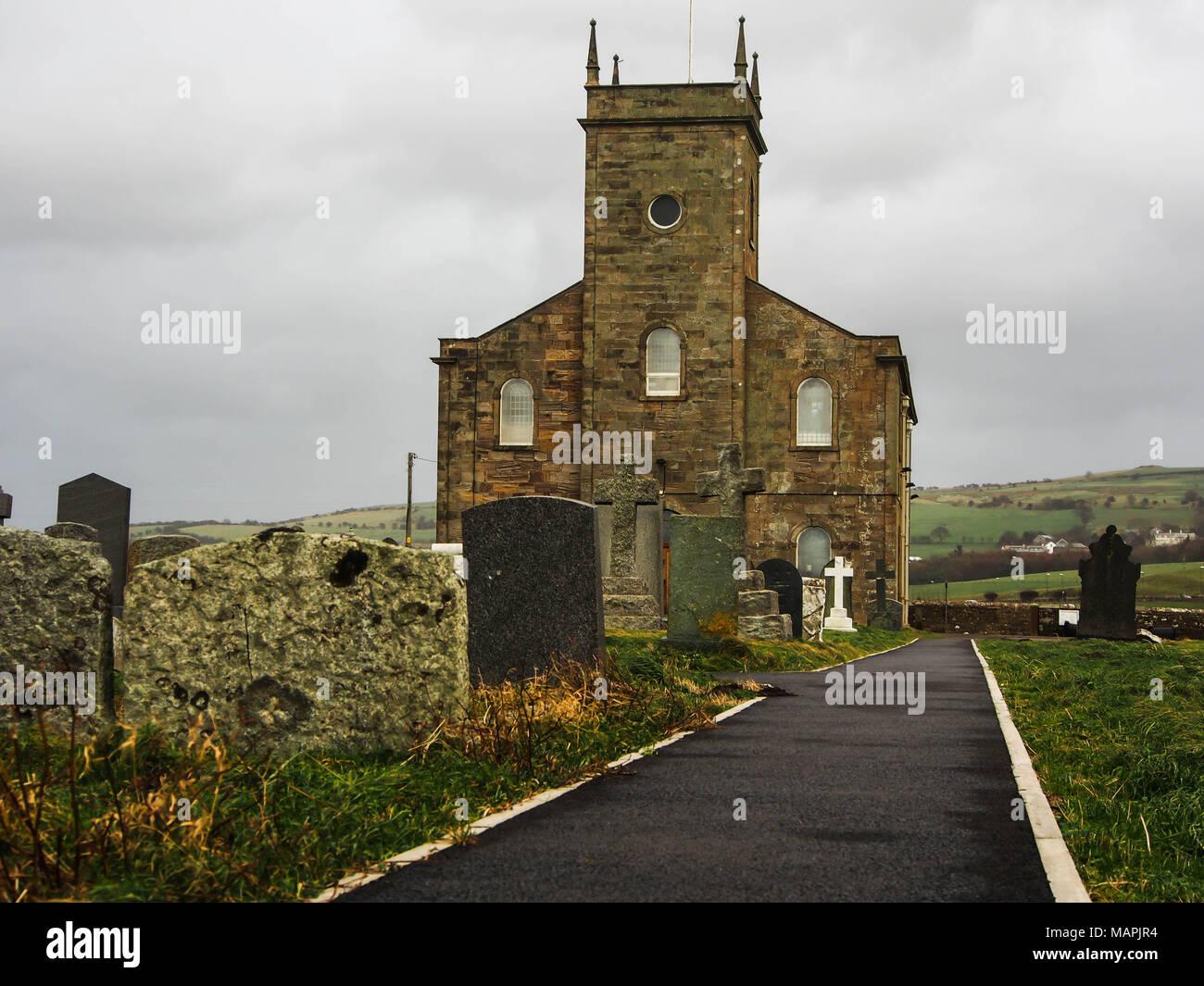 St Bridget's Church Moresby, Whitehaven, Cumbria, England - Stock Image
