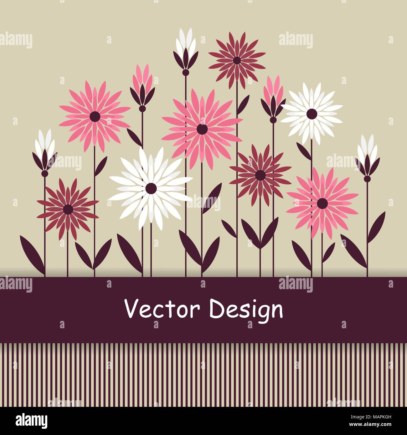 Simple Floral Background Stock Vector Art Illustration Vector