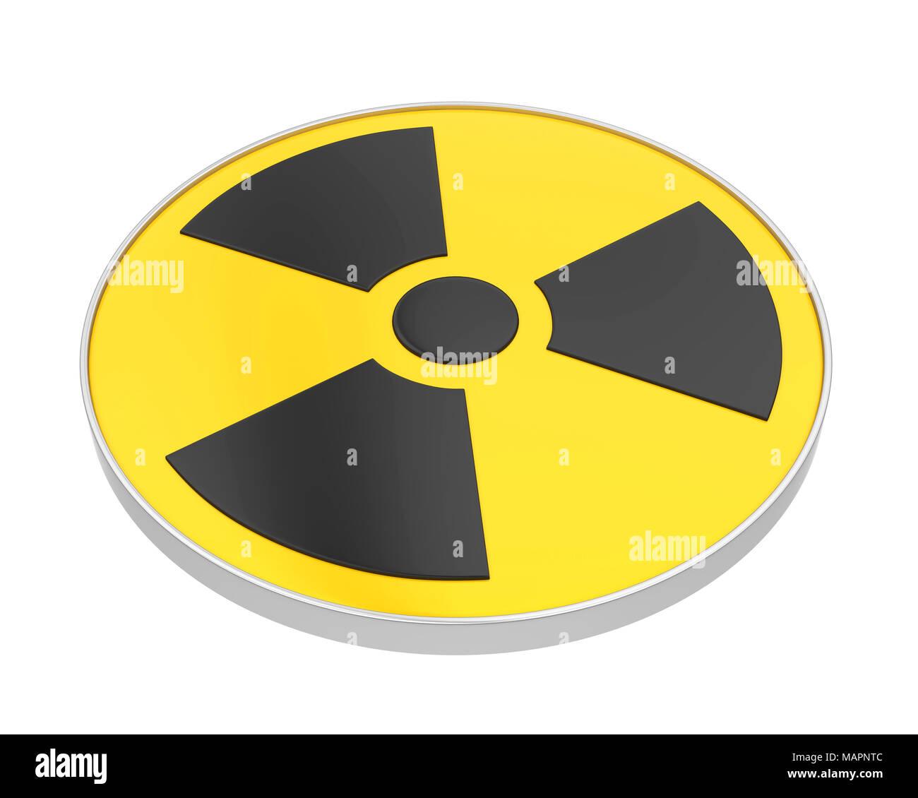 Radioactive Sign Symbol Isolated - Stock Image