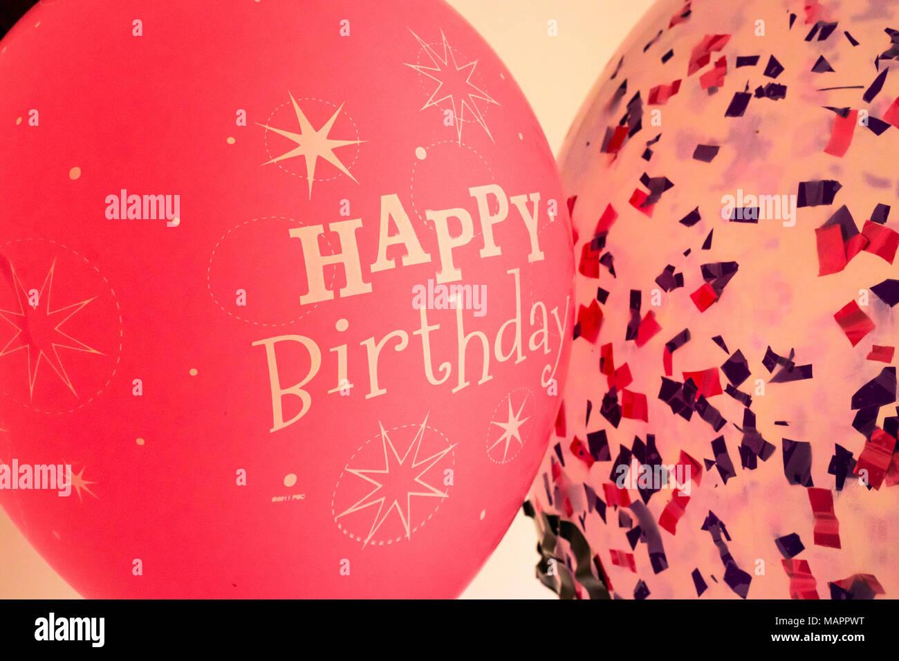 Happy Birthday Balloons Rose