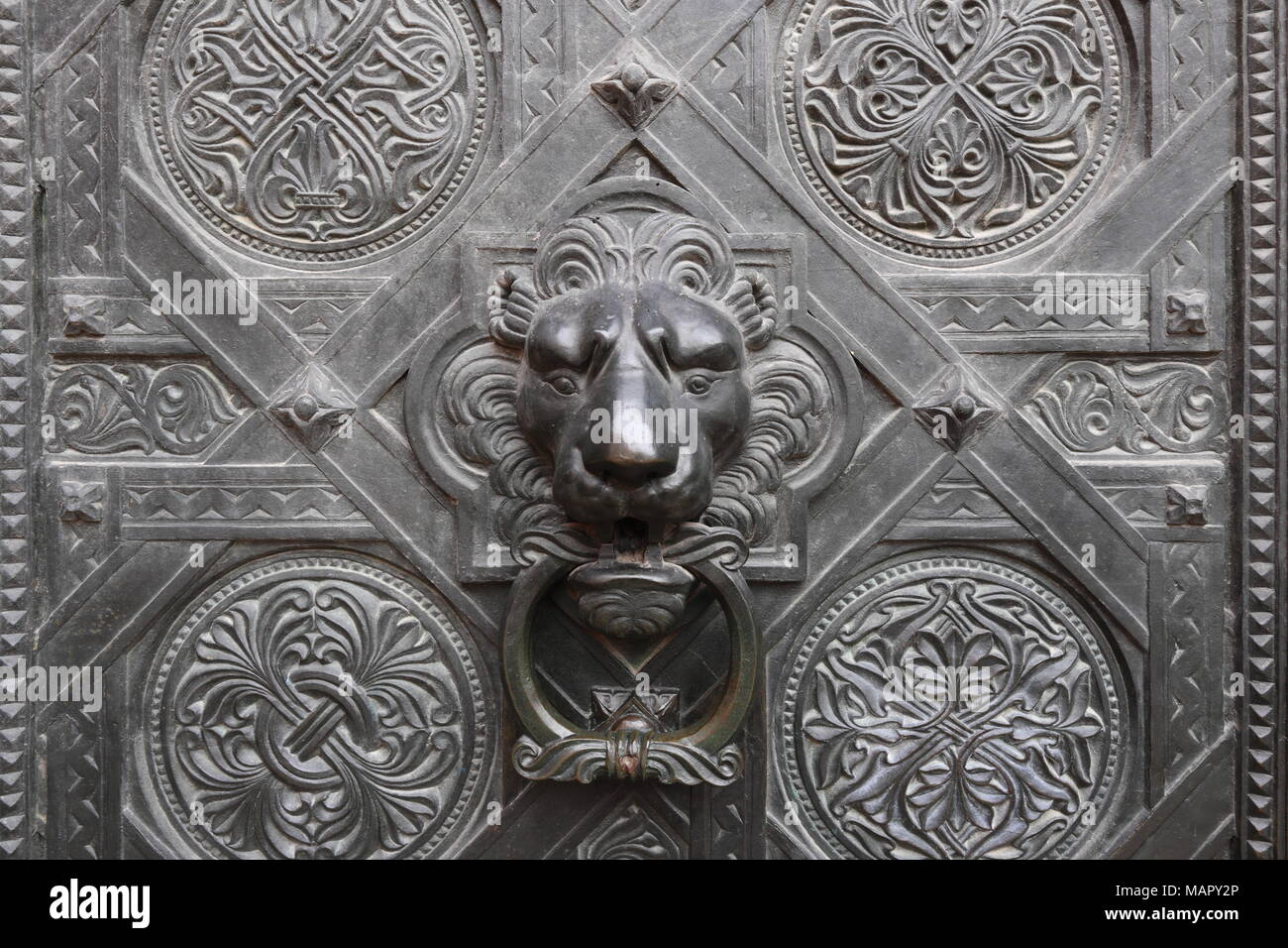 Delicieux Historical Metal Door Knocker With Lion Head, Basler Münster, Basel,  Switzerland