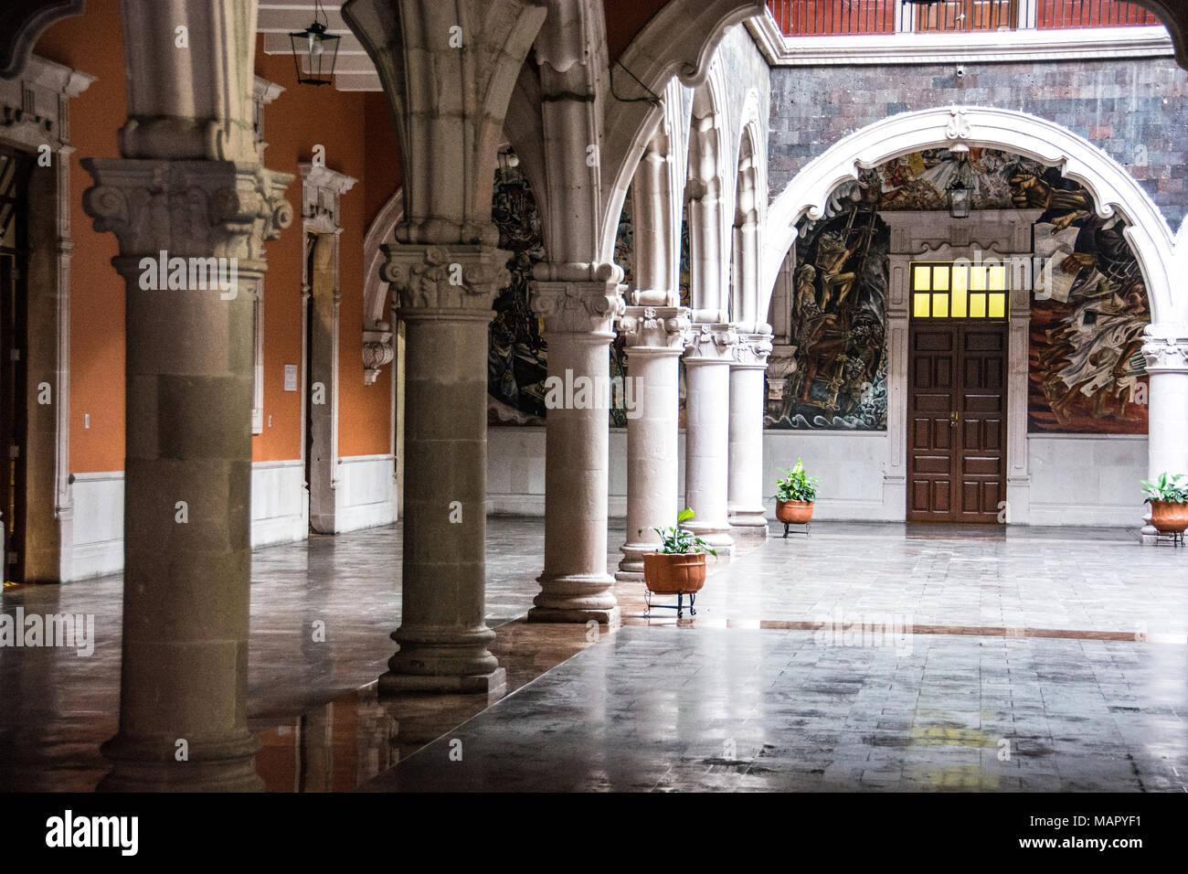 Casa de la Cultura, House of Culture, Aguascalientes, Mexico - Stock Image