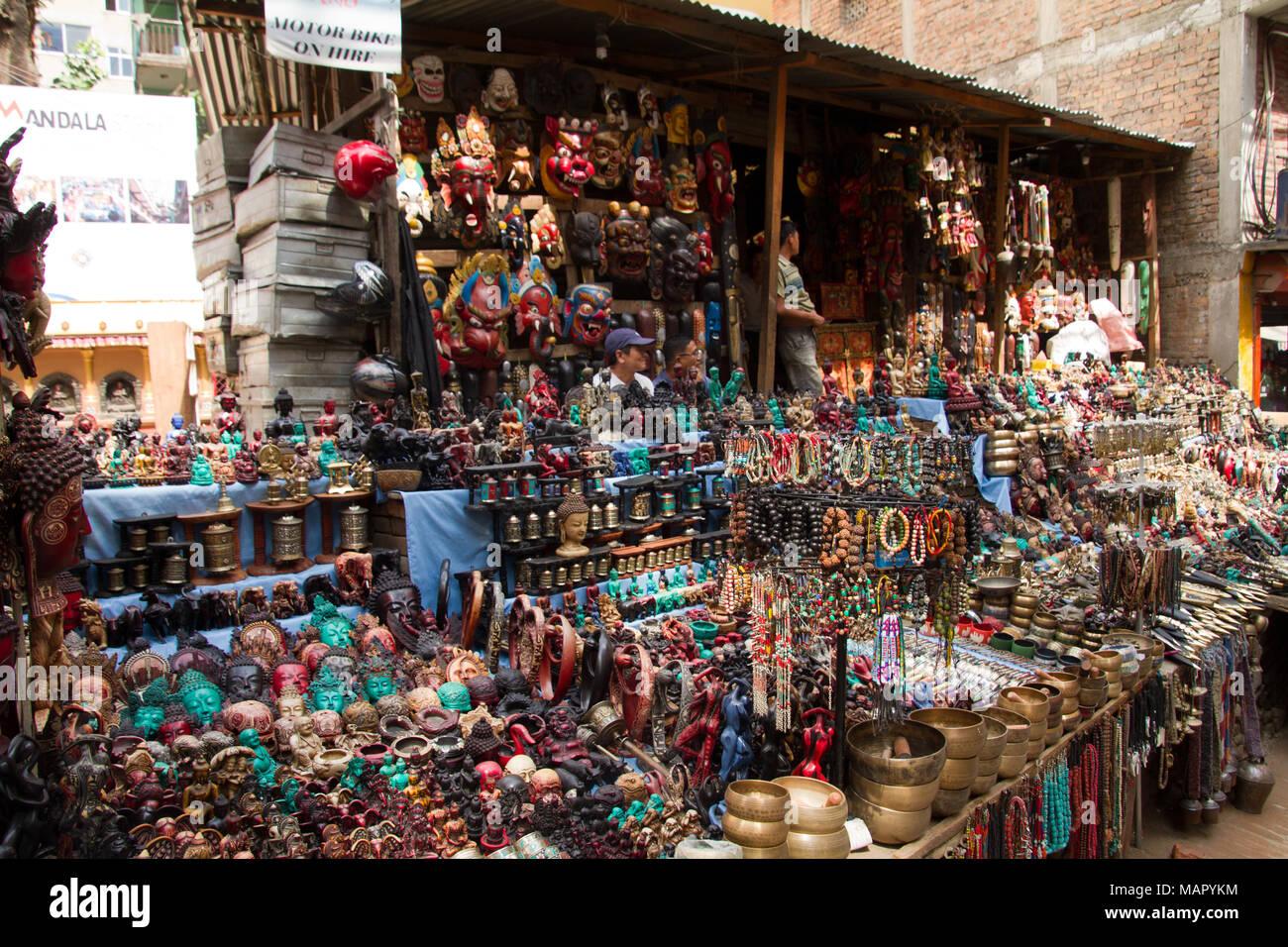 Traders on the streets of Kathmandu, Nepal, Asia - Stock Image