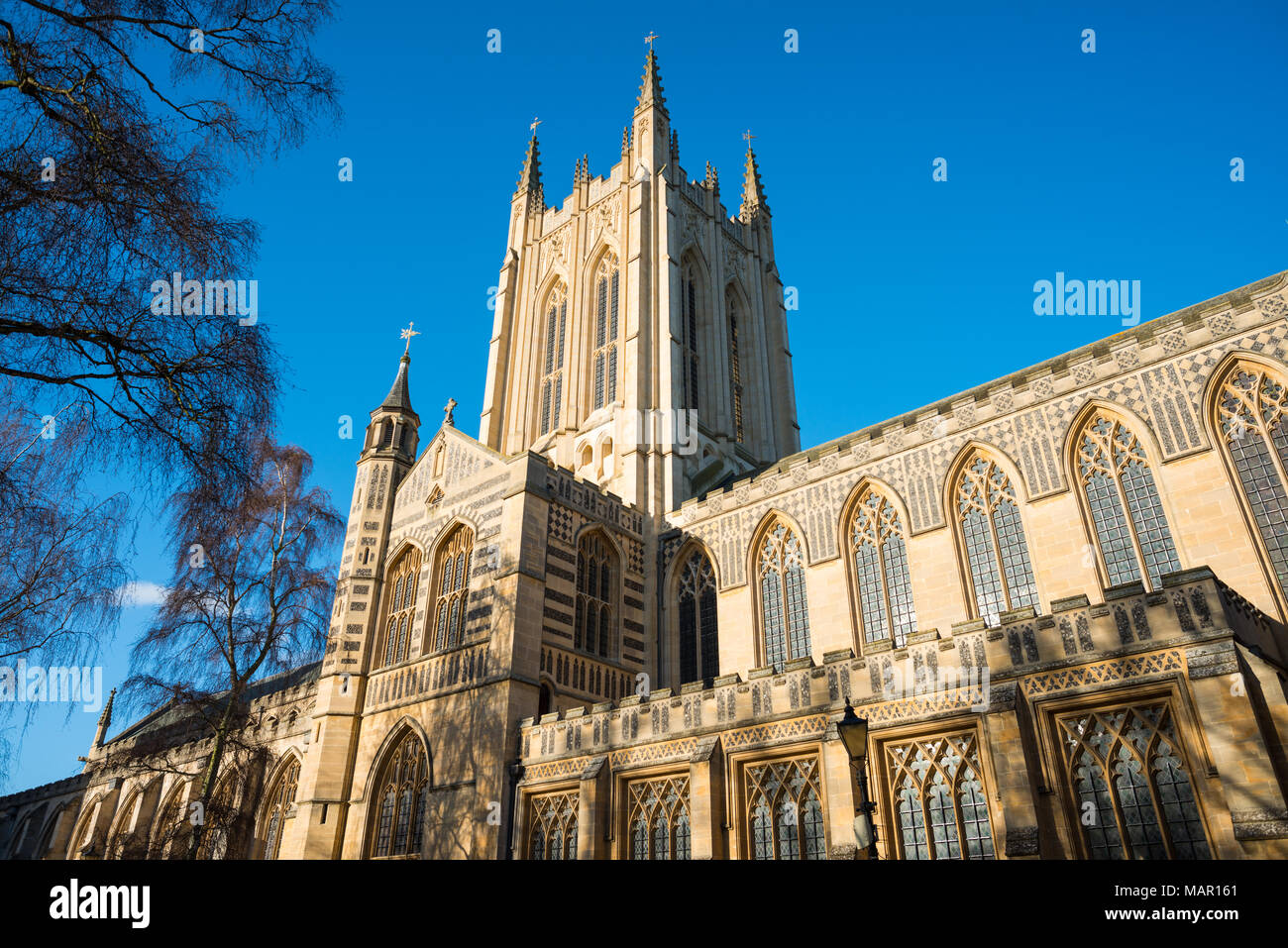 St. Edmundsbury Cathedral, the cathedral for the Church of England's Diocese of St. Edmundsbury and Ipswich, Bury St. Edmunds, Suffolk, England, Unite - Stock Image