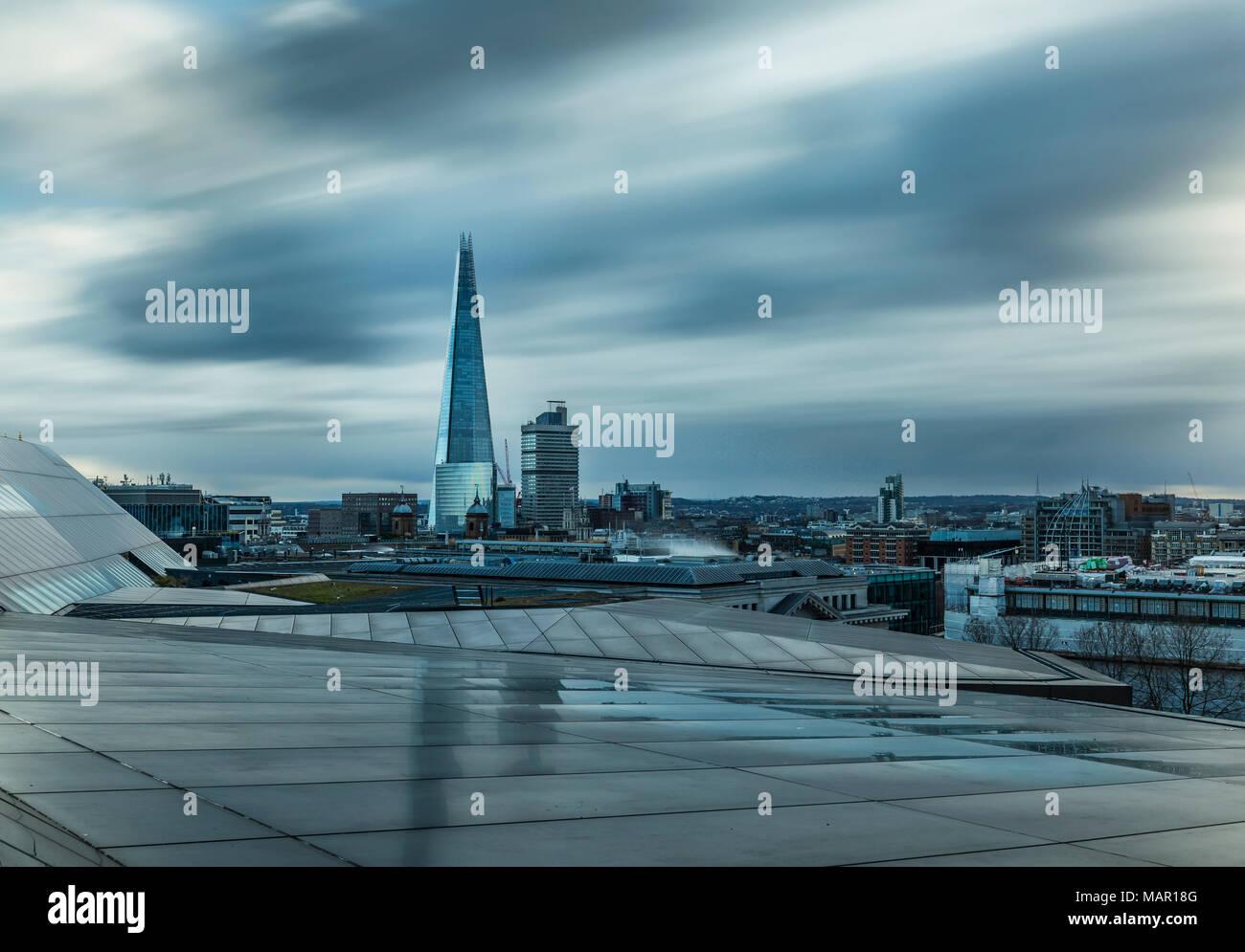 The Shard, cityscape from One New Change, Southwark, London, England, United Kingdom, Europe - Stock Image