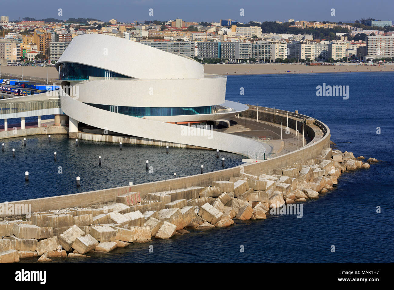 Cruise Ship Terminal, Leixoes Port, Porto City, Portugal, Europe Stock Photo