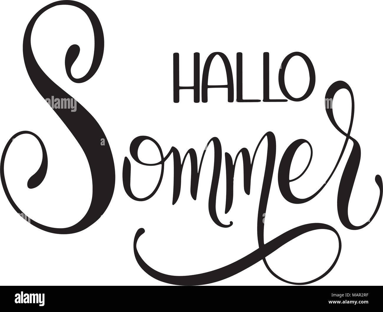 Hallo sommer hello summer lettering on german elements for hello summer lettering on german elements for invitations posters greeting cards seasons greetings m4hsunfo