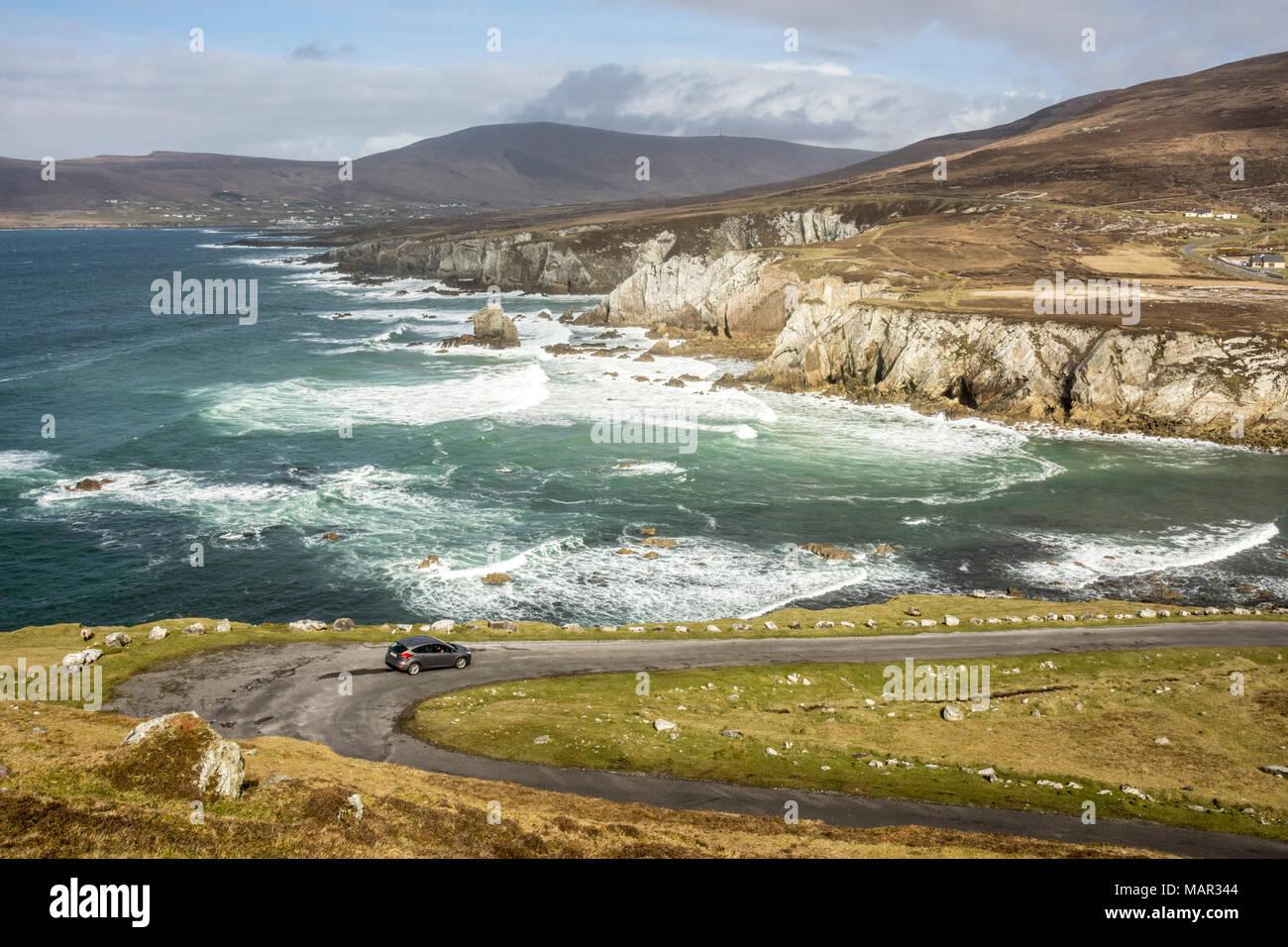 Atlantic Drive, southern Achill Island, County Mayo, Connacht, Republic of Ireland, Europe - Stock Image