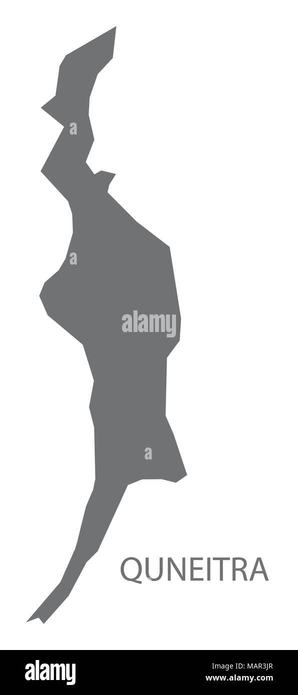 Quneitra map of Syria grey illustration shape Stock Vector ...