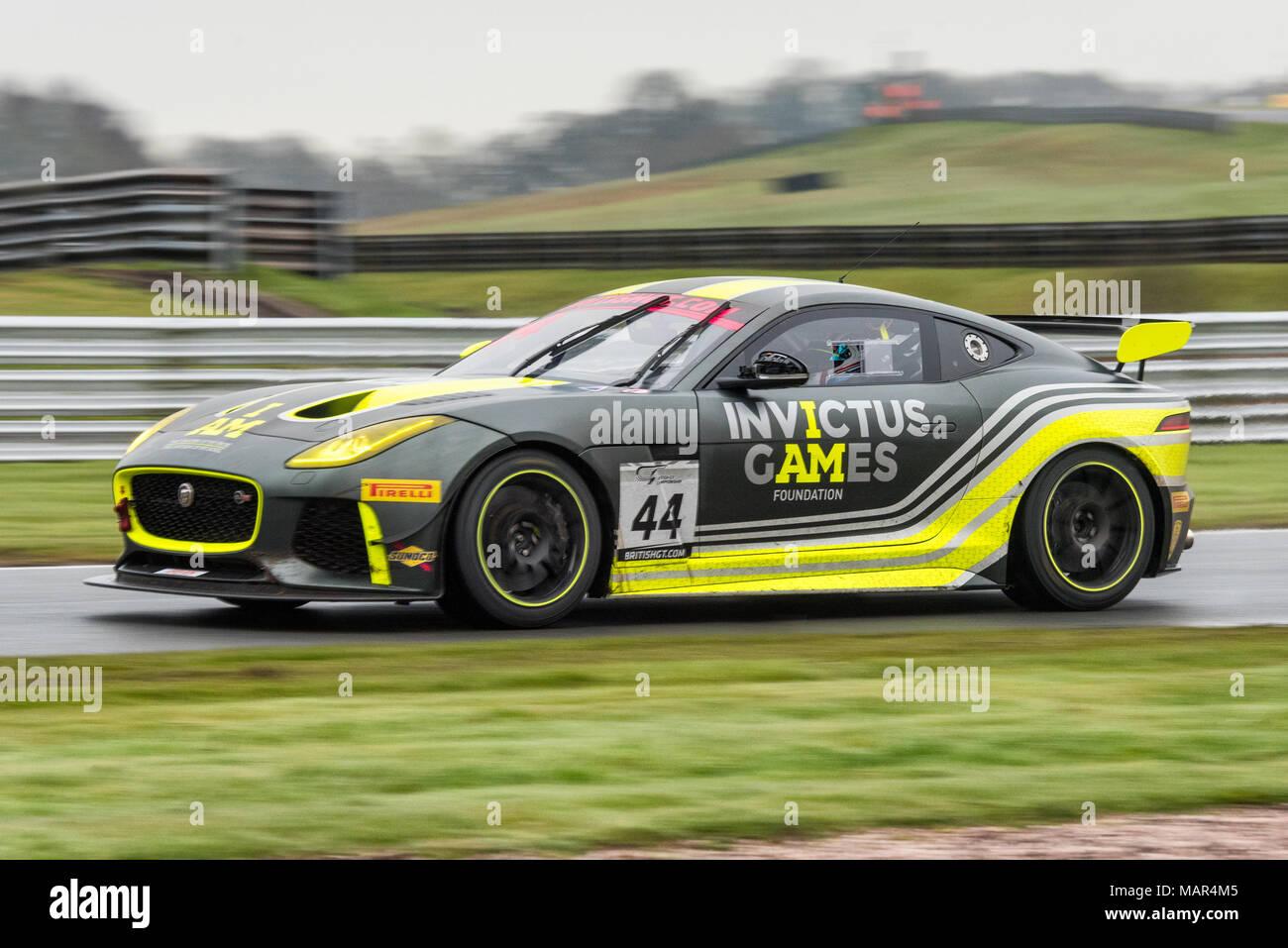 Invictus Games Racing Jaguar F-Type SVR GT4 Car 44 during round 1 of