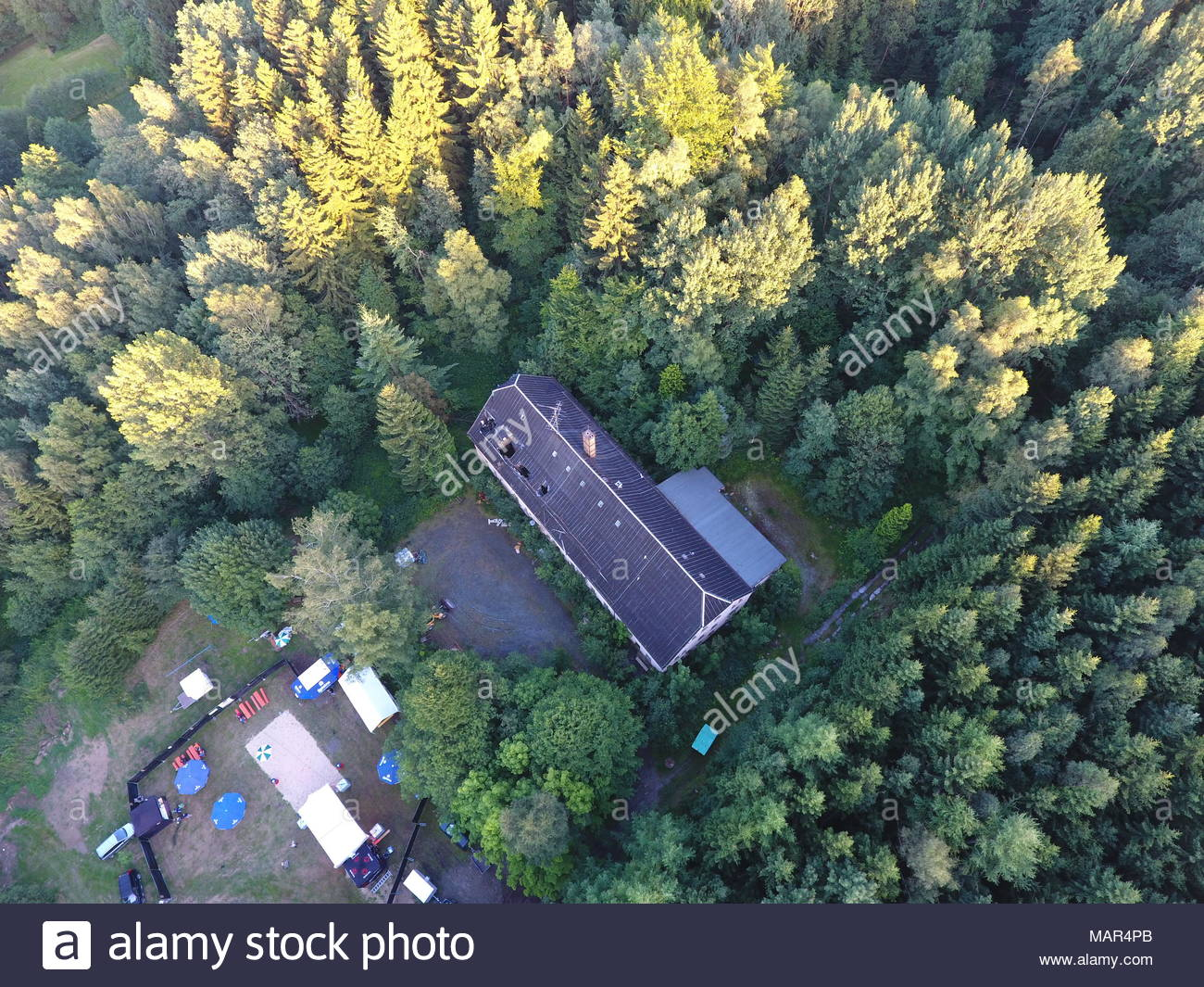 kreba neudorf kreis goerlitz oberlausitz luftbild air view - Stock Image