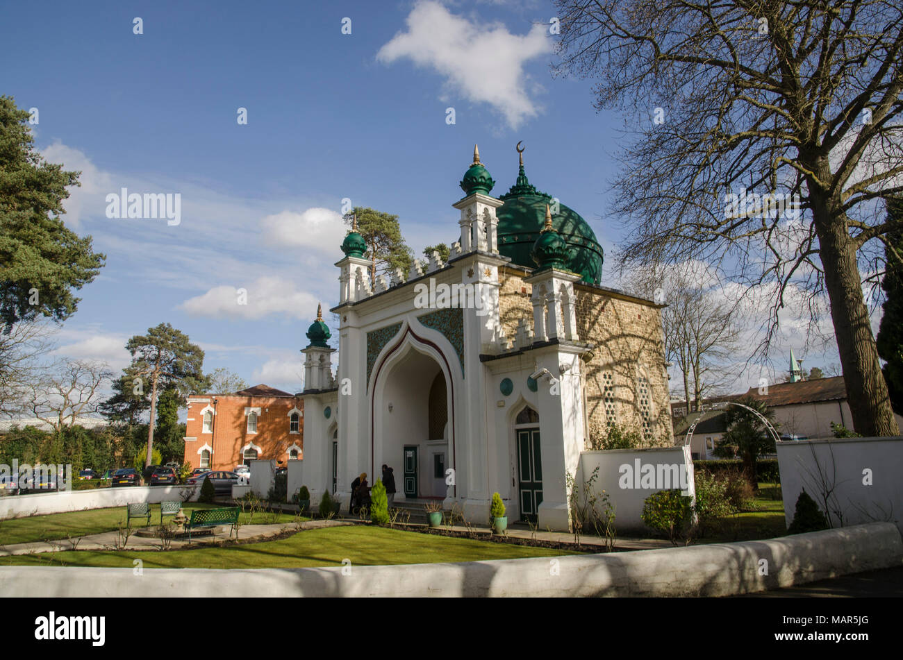 Shah Jahan mosque in Woking. First mosque in the UK - Stock Image