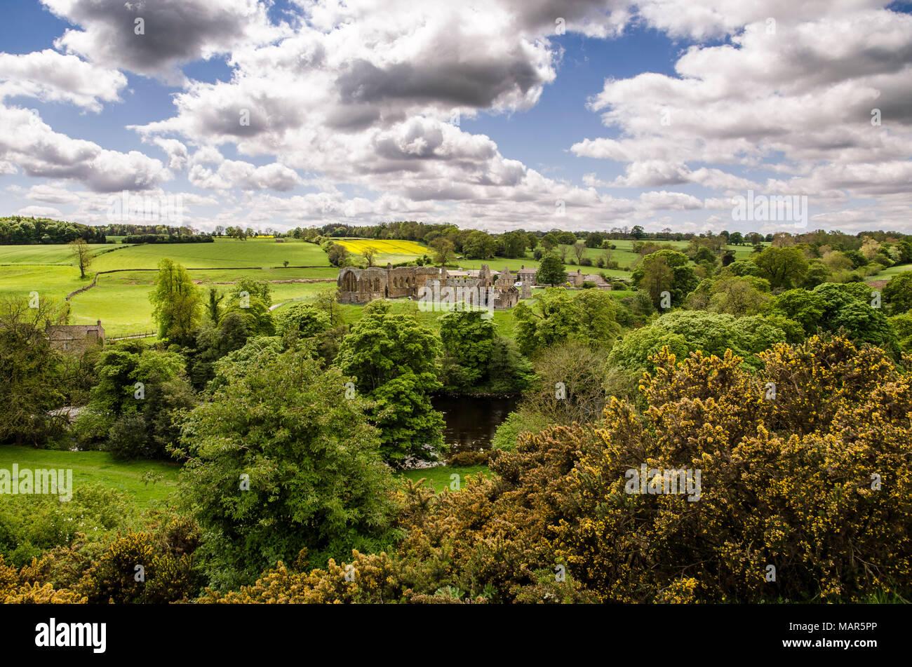 Egglestone Abbey, Barnard castle - Stock Image