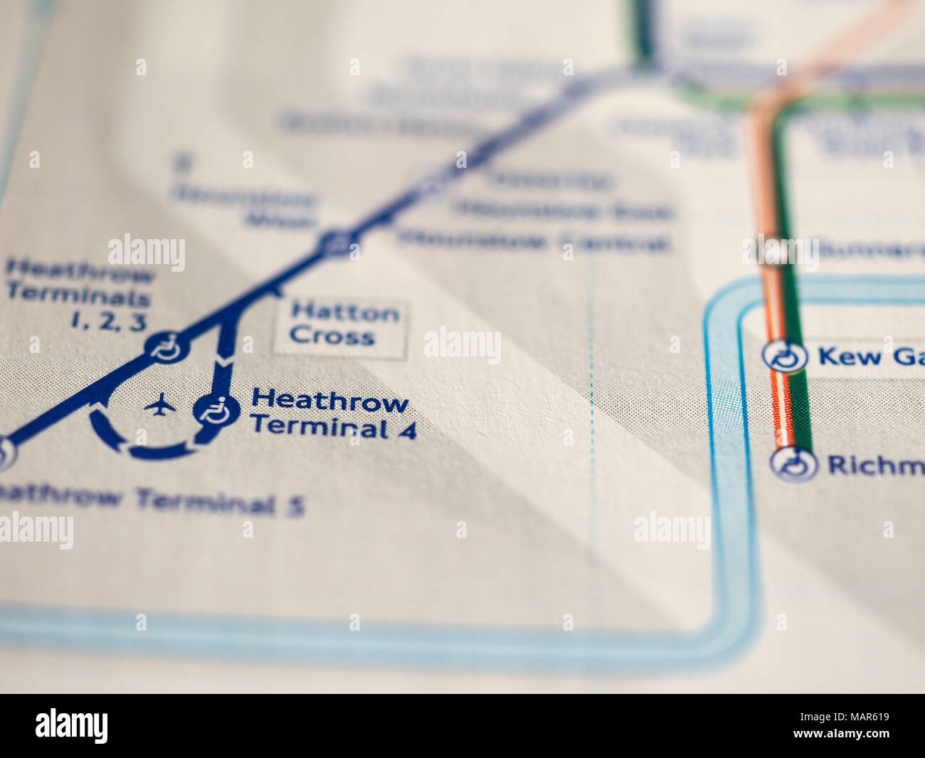 London Uk Circa 2018 Map Of London Underground Tube Stations