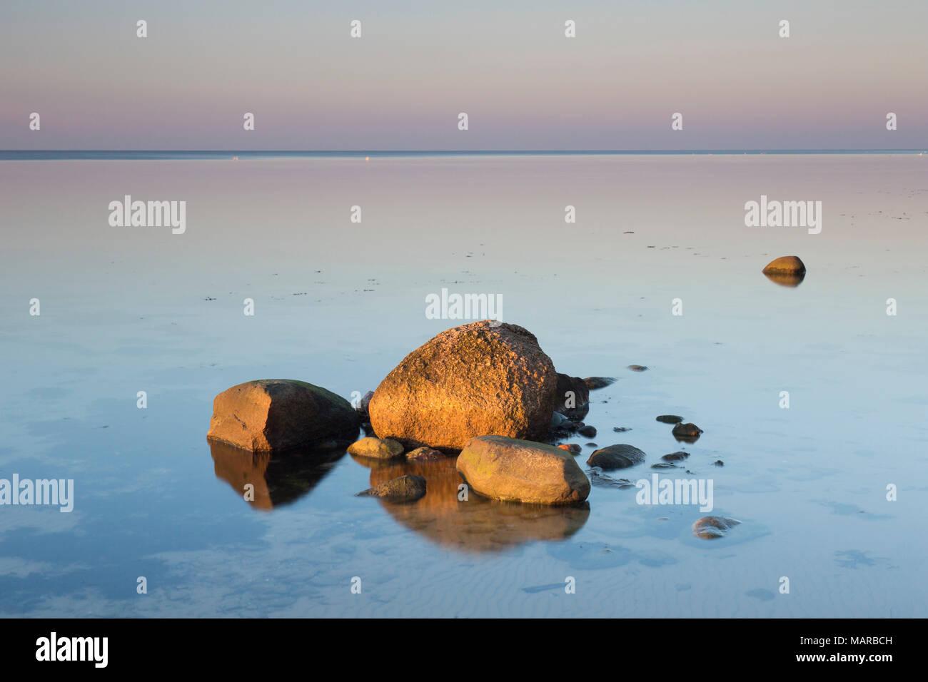 Rocks in the Baltic Sea. Mecklenburg-West Pomerania, Germany - Stock Image