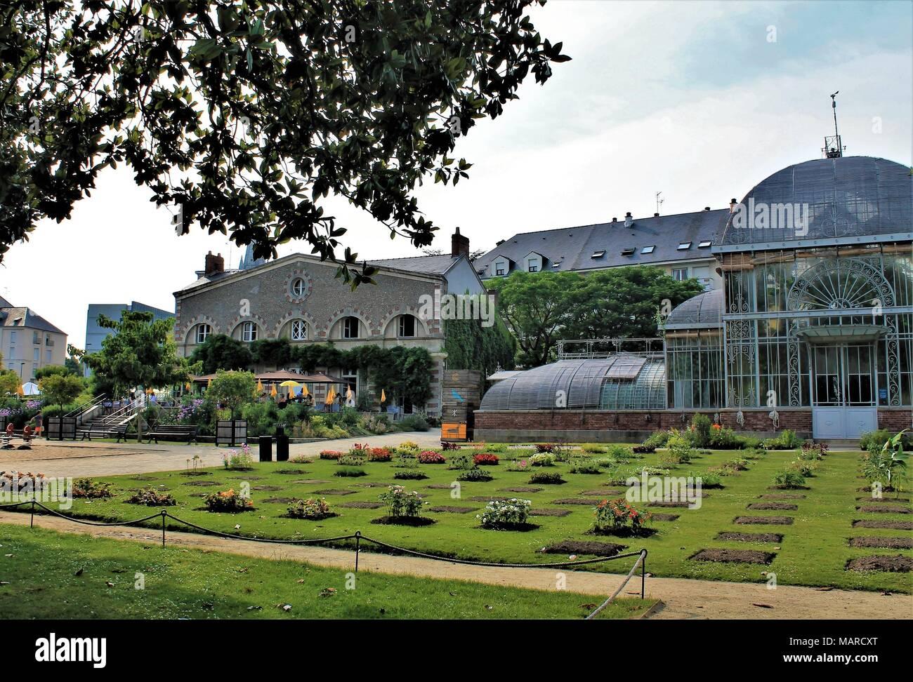 Jardin des Plantes (Botanical garden) of Nantes, Loire Atlantique ...