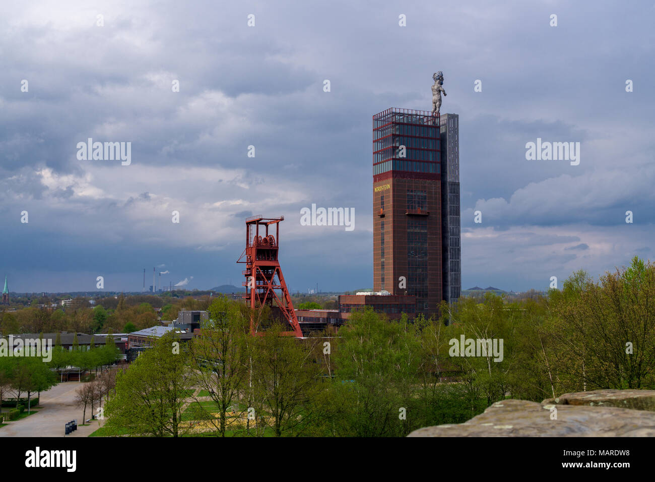 Coal mine Nordstern in Gelsenkirchen ruhr area germany - Stock Image