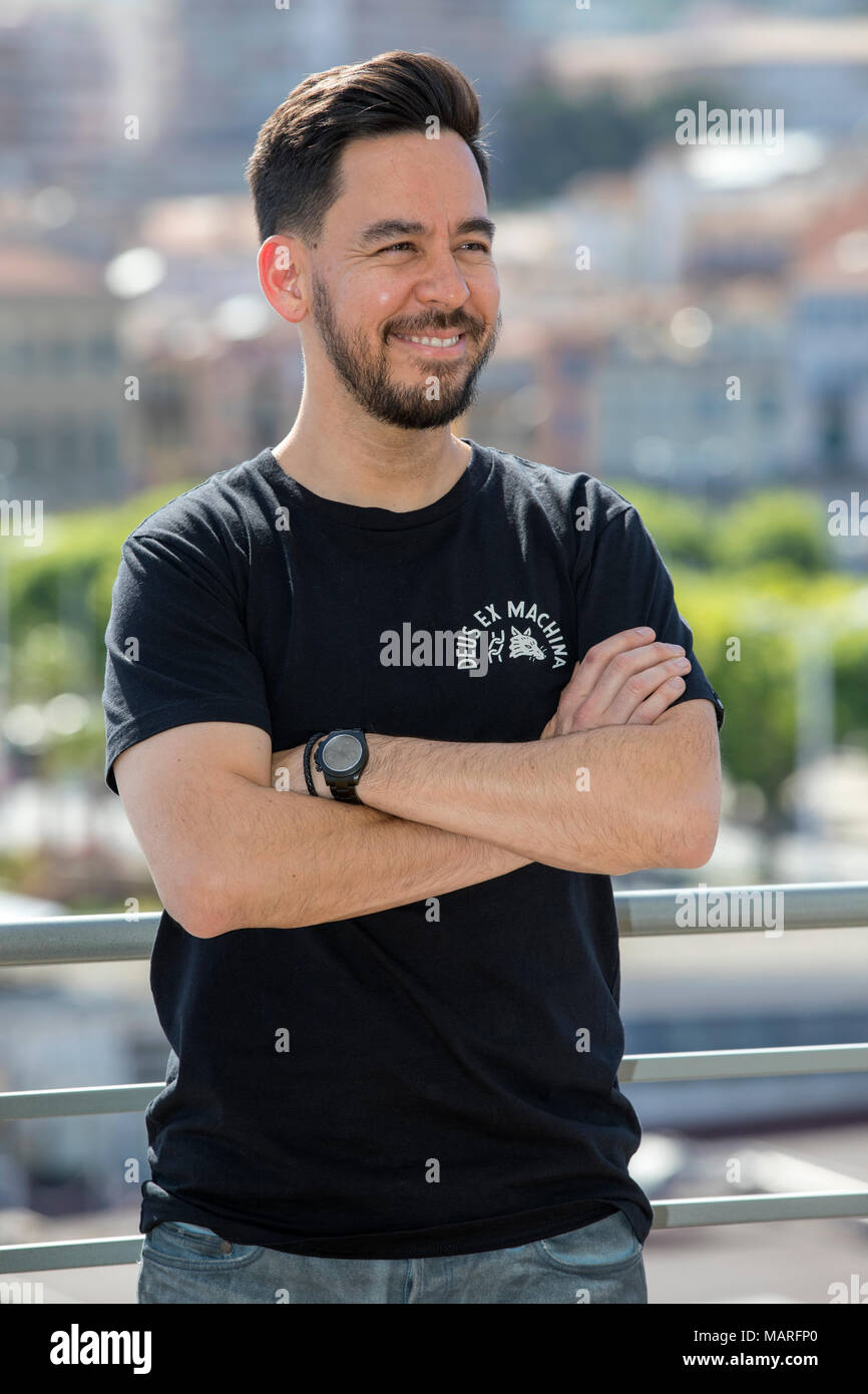 Linkin Park vocalist and producer Mike Shined - attend the Photocall Midem 2017, June 7 2017, Cannes, France - Stock Image