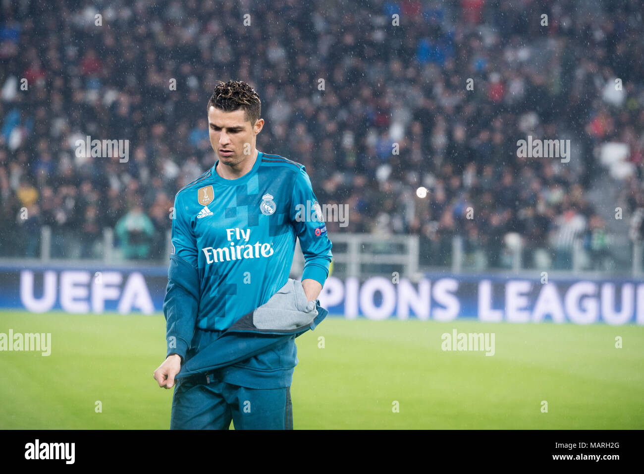 Cristiano Ronaldo During The Champions League Match Juventus Fc Vs Real Madrid Real Madrid Won 3 0 At Allianz Stadium In Turin Italy 3rd April 2018 Stock Photo Alamy