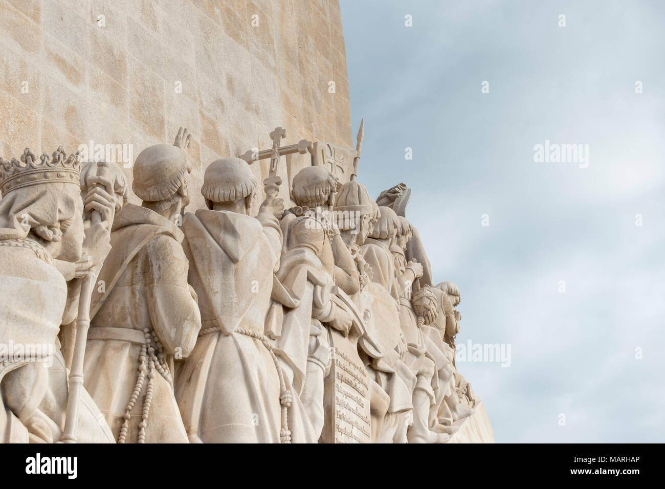 Monument to the Discoveries, Belem, Lisbon, Portugal - Stock Image