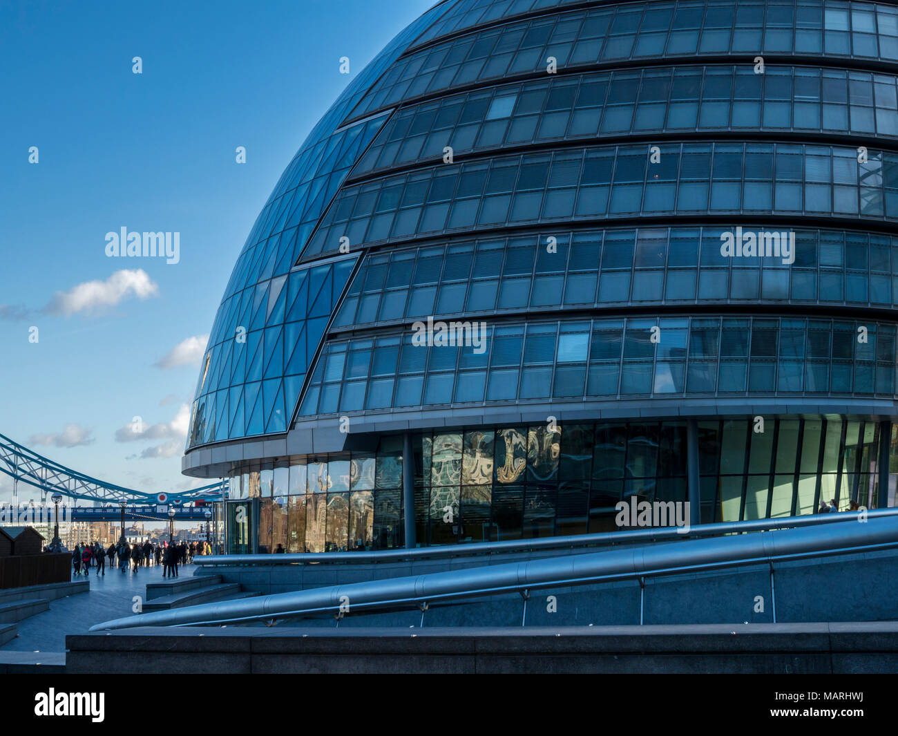 London City Hall, the location of the London Greater Authority, the London Assembly and the  Mayor of London offices, London, UK. - Stock Image