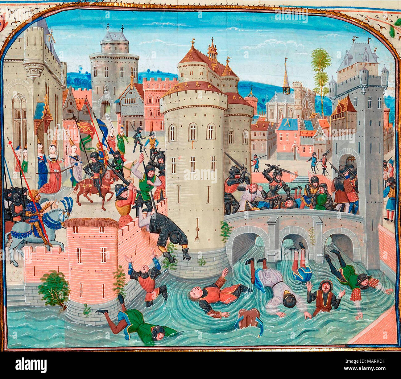 Defeat of the Jacquerie 9 June 1358 - Stock Image