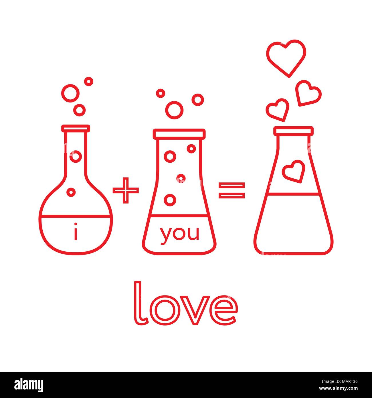 You And Me And Our Chemistry Of Love Design For Banner Poster Or